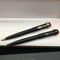 Высокое качество Матовый черный роликовый шариковая ручка шариковая ручка со змеиным клипсом офисные канцелярские принадлежности Luxures Написать заправки