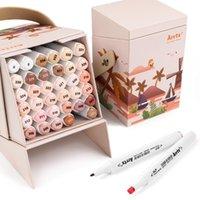 Arrtx Alp Piel Tono 36 Colores Alcohol Marker Dual Sugerencias Marcador Pen Perfecto Para Figura Pintura Retrato Diseño Carton Coloring 201102