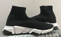 Paris Luxury Flat Sock Shos Speed Boots Sneakers Black Red Bianco Fashion Mens Mens Donne Tretch Trech Trech Trech Trainer Stivaletti corridore