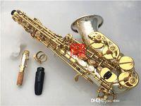 YanagiSAWA SC-9937 Küçük Kavisli Boyun Soprano Saksafon B Düz Yüksek Kalite Pirinç Nikel Gümüş Kaplama Sax Ağızlık Kılıfı Ile