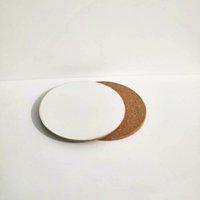 DIY التسامي فارغة كوستر خشبي الفلين كوب منصات mdf الإعلان هدية ترقية الحب جولة زهرة شكل كوب ماتس CCA12636