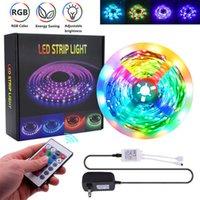 最高のプラスチック300-LED 24W RGB IR44ライトストリップセットIRリモコン(ホワイトランププレート)トップグレードの素材LEDストリップ
