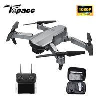Topacc T58 WiFi FPV 106.7g Brazo plegable Drone RC Quadcopter Mini gran angular Profesional HD 1080p cámara Hight Hold Mode RTF DRON 201221