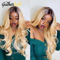 레이스 가발 Ombre 1B / 613 인간의 머리카락 Perruque Cheveux Humain Blonde Front Wig 꿀 Bodywave