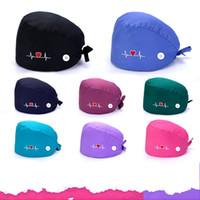 القبعات القطن الخالص الحب مشبك العرق منشفة التطريز الطباعة الأزياء التبعي القصير للجنسين الساخن بيع 9KJ M2