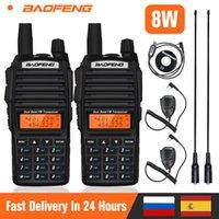 2 개 보풍 UV82 무전기 8W 강력한 휴대용 듀얼 밴드 라디오 UV (82) VHF UHF 양용 햄 라디오 UV82 10km FM 송수신기
