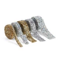 1 Yard 1.0-3.0mm strass banding banding hotfix strass décoration de cristal ruban ruban pour femme bricolage vêtements chaussures chapeaux q sqcwum