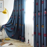Curtain & Drapes Child Bedroom Window Curtains Blue Embroidered Blackout For Kids Cortains Royal Soldiers Of England