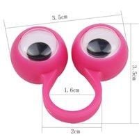 Новинка игрушка многоцветные глазные марионетки дети пластиковые кольца с Wiggle глаза горячие продажи вечеринка игрушка пальца