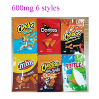 600mg Cheetos Maylar Bag Doritos Queijo Gummi Worm Worm Saco de Bone Ruffles Edibles Flamin Hot Gummy Embalagem sacos