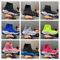 2020 новая скорость вязание детей носки обувь малыша девочек мальчики нёрны роза Hortensia Triple черные белые красные бегуны размером 7.5c-3Y 24-35