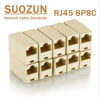 SOOZUN RJ45 CAT5 8P8C CONNETTORE CONNETTORE Accoppiatore per estensione Broadband Ethernet Network LAN Cable Cable Joiner Extender Plug