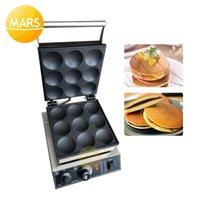 Ekmek Makineleri Ticari 9 Delik Dorayaki Pancake Maker Makinesi Dökme Demir Poffertjes Pan 220 V 110 V