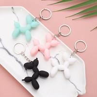 الأزياء مفتاح سلسلة لطيف بالون الكلب المفاتيح مجوهرات زوجين كيرينغ الإبداعية الكرتون حقيبة الهاتف المحمول سيارة قلادة سحرف المرح