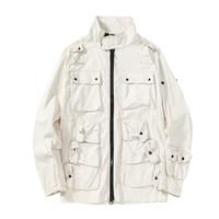 Topstoney 2020 Konng Gonng Solid Moda Jaqueta de moda confortáveis casuais casuais bolsos tops Tecido turco original