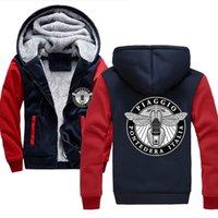 Zipper Winter Coat Warm Vespa Piaggio Italia Premium Felpe con cappuccio in pile Maschile Felpa con cappuccio Giacche per uomo