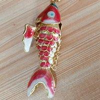 5 pz 4 cm 5.5 cm 8.5 cm carino smalto fortuna koi charms per gioielli che fa pendenti ciondoli vivido swing carpa del braccialetto della collana fai da te orecchini