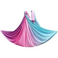 Устойчивые полосы сопротивления Предварительная фитнес антенна Yoga Гамак Высокое качество 5Мет / 5.5yards 100% нейлоновая ткань по танцам упражнения
