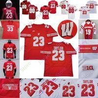 Wisconsin Badgers Football Jersey NCAA College Melvin Gordon T.J. Watt Jack Coan Jonathan Taylor Cephus Taylor Baun Hornibrook Van Ginkel