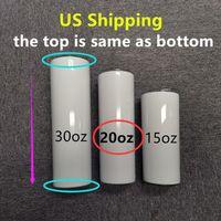 Доставка США! Прямые 20 унции сублимации тощие прямые тумблеры будут отправлены около 20 марта бутылок из нержавеющей стали A12