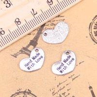 136 قطع مجوهرات سحر القلب اليد صنع الحب 15x10 ملليمتر العتيقة الفضة مطلي المعلقات صنع diy اليدوية التبتية الفضة والمجوهرات