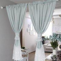 Senisaihon Cozinha coreana cortina azul bordado poliéster porta cortinas tule para cozinha porta armário casa têxtil11
