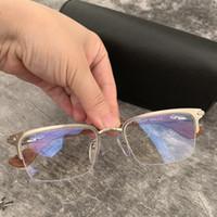 Brand Uomo Eyeglasses in legno Cornici Mezza cornice Occhiali ottici Cornice per occhiali da uomo Spettacolo da uomo Gambe in legno Legno Myopia Eyewear con custodia originale