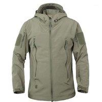 Мужские куртки Dafeili осень зима акулскин пеший туризм мужская водонепроницаемая открытый Softshell Tactical1