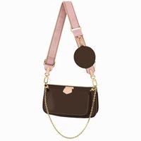 Любимые мульти pochette аксессуары сумочка сумка из натуральной кожи цветка плеча кроджом сумка дамы кошельки 3 шт.