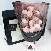 Hvayi 18 pz artificiale mariage sapone rose fiori bouquet flores pianta compleanno natale nozze san valentino giorno regalo decorazione domestica Q1126