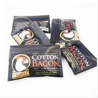Versão de prata ouro saco de etiqueta VAPE ECIG DIY algodão bacon Prime orgânico puro para RDA RBA Atomizers Vaporizadores Ferramenta de fumar E-Cigarette