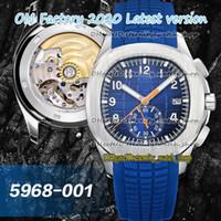 2020 سوبر نسخة OMF 2020 ساعات رياضية 5968A-001 الأزرق الهاتفي ETA 7750 CH 28-520 توقيت تلقائي 5968 ووتش رجالي حالة الفولاذ وساعة التوقيت