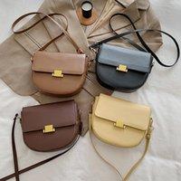 PU Solide Sac Solid Handbody Fashion Sac carré Small Épaule Femmes Messenger Ceinture Sac mince sac de sac en gros Lbelm