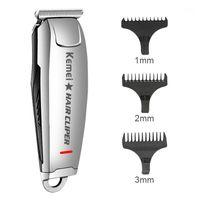 Kemei KM-2812 المهنية الكهربائية الشعر المقص خمر نقش أدوات تصفيف الشعر اللاسلكي قابلة للشحن حلاقة حلاقة 45D1