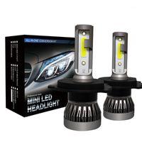 Pampsee super mini tamanho H4 led 9005 3 9006 4 h7 h11 h1 lâmpada auto lâmpada lâmpada lâmpada LED para carro 60w 8000lm 6000k 12v1