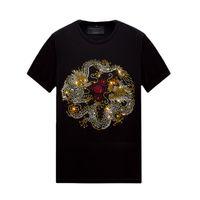 Повседневная горячая горный хрусталь мужские женские футболки с коротким рукавом топы удобные мерсеризованные хлопковые тройники на лето, унисекс