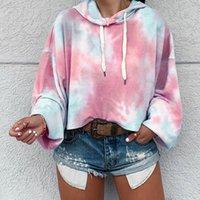 여성용 후드 스웨터 여성을위한 대형 넥타이 염료 패션 프린트 스웨터 느슨한 긴 소매 streetwear 의류 까마귀 겨울