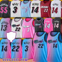 Jimmy 22 Butler Dwyane 3 Wade Jersey Tyler 14 Herro Miamis Bam 13 Adebayo Goran 7 Dragic Kendrick Robinson Nunn كرة السلة الفانيلة