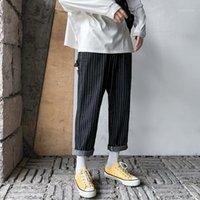 Main Push Will Code Code Easy Vertical Stripe Dad Hosen Arbeitskleidung Jeans Schwarz A161 -C121-P50; 1