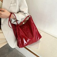 Large- Capacity Bucket Bag In Patent Leather 2020 Fashion Tra...