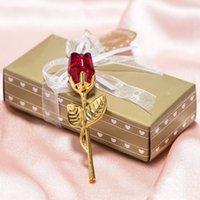 낭만적 인 웨딩 선물 다채로운 상자 파티와 함께 여러 가지 빛깔의 크리스탈 로즈 호의 호의 베이비 샤워 기념품 장식품 게스트 Eee3526