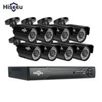 Hiseeu 8ch نظام الدوائر التلفزيونية المغلقة كيت AHD 1080P IR CCTV مراقبة الفيديو الأمن الرئيسية الأمن الداخلي / في الهواء الطلق مانعة لتسرب الماء