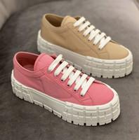 2021 المرأة عجلة كاسيتا منصة حذاء رياضة شقة مصمم أحذية أعلى جودة أسود أبيض سميكة الدانتيل متابعة القتالية مع صندوق 261