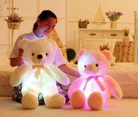 30cm 50 cm Incandescência deepheed animal conduzido piscar de pelúcia luz bonito luz coloful urso urso bonecos brinquedo bebê brinquedo aniversário feriado presente