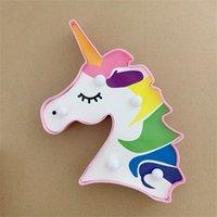 Testa di unicorno Lampada da modellazione colorata Adesivi per capelli Colorful Decorate Sculpt Lamps Festa di compleanno Partita di compleanno Originalità Motif Light New 3 8xc F2