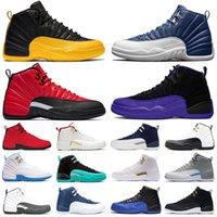 2021 Мода Jumpmans 12 Университет Золото 12s Мужчины Баскетбольные Обувь Индиго Обратный грипп Игра Темные Корпуса высокие