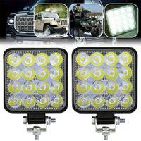 48W 자동차 LED 작업 조명 운전 라이트 가제트 홍수 스포트 콤보 램프 ATV 오프로드 SUV 트럭 12V 24V 조명 바 램프 스포트라이트 수정 된 헤드 램프