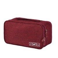 携帯用カチオンブラ袋純色大容量防水布靴下下着収納袋旅行記事熱い販売13 5Hk J2