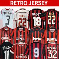 90 91 camisas retro Inicio 96 97 Gullit Soccer Jersey 02 03 04 Maldini Van Basten Football Ronaldo Kaka Inzaghi AC 06 07 Milan 09 10 Shevchenko