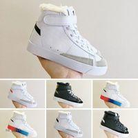 Sacai X Blazer Mid Kids Sapatos Infantil Esportes Clássicos Skates Skates Meninos Meninas Childen Sneakers Treinadores